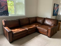 Pottery Barn ~ Turner Square Arm Leather 3-Piece Sectional with Corner Brampton, L6X 0X2