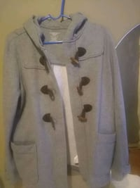 gray button-up coat 41 km