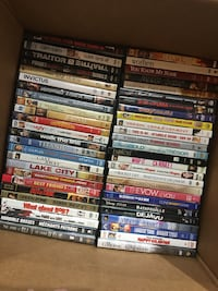 Box full of DVDs more than 60 titles here