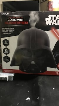 black Star Wars cool mist humidifier box