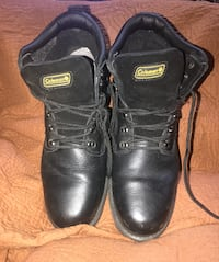 Men's Black Steel Toe Coleman Work Boots- size 13