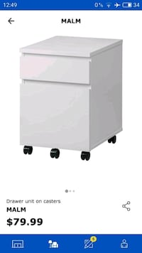 IKEA MALM  2-Drawer Chest Night stand