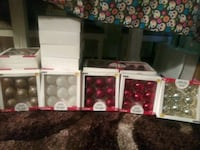 Brand new boxes of glass ornaments
