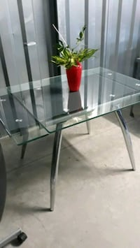 Glass & Chrome Dining/Kitchen Table
