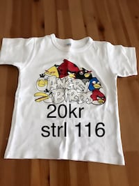 Angry Birds tryckt t-shirt 6555 km