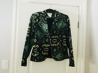 Black and green floral Blazer size lrg  Quinte West, K0K 3E0