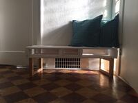 white pallet bench with gold legs Vancouver, V5N 3M6