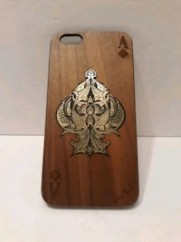 Ace Of Spades Wood Phone Case
