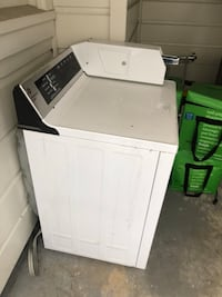 White front-load clothes washer 2411 mi