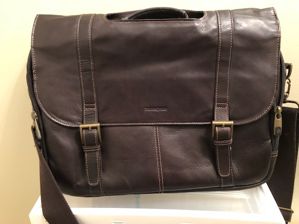 Samsonite leather messenger/laptop bag