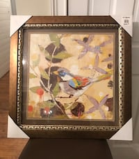 brown wooden framed painting of flowers Greensboro, 27455