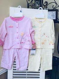 New girl outfit, 1 pink, 1 yellow size 6 months . Woodbridge, 22191