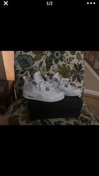 white and black Air Jordan basketball shoes Alexandria, 22309