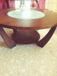 round brown wooden center table Chaparral, 88081