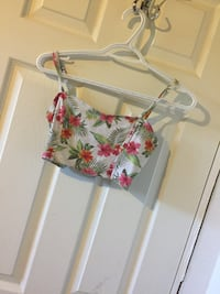 white, pink, and green floral spaghetti strap top Macdonald, R0G 0A2