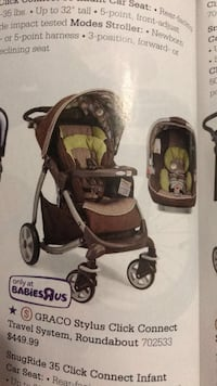 baby's brown and black travel system 503 km