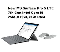 *firm price* New Microsoft Surface Pro 5 LTE Advanced - 7th Gen Intel Core i5, 256GB SSD, 8GB RAM, 2YR Warranty Toronto