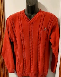 John Ashford Golf Red Sweater Mens Medium Middletown, 21769