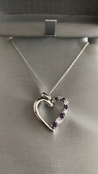 New people's 10kt amethyst heart necklace Calgary, T3E