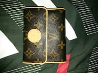 brown Louis Vuitton Monogram canvas leather wallet Las Cruces