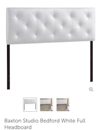 Baxton Studio Bedford White Full Headboard 218 mi