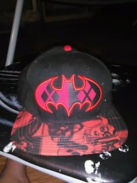 red and black Batman fitted cap Afton, 37616