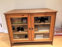 Brown wooden framed glass cabinet Laval, H7X 4C3
