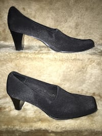 pair of black suede platform stilettos Birmingham, 35205