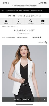 Brand new with tags BHWM WHITE VEST size 8 Toronto, M5A 0B3