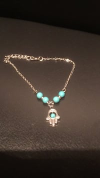 silver and teal beaded necklace Vancouver, 98664