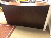 Brown wood receptionist desk Aquasco, 20608