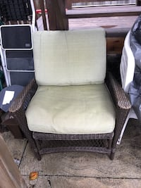 Brown 7 Piece Look A Like Wicker Patio Furniture with Nice green washable cushions Toronto, M6E 3C9
