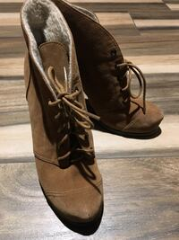 Brown suede lace-up booties Centreville, 20120