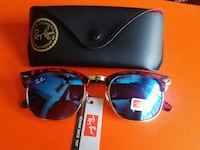 blue framed Ray-Ban sunglasses with case 2278 mi