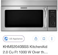 *PRICE REDUCED* Brand new, Kitchenaid microwave hood combination still in the original wrapping. This was bought with a whole Kitchenaid set but doesnt fit in my kitchen ! Pine Brook, 07058