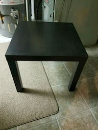 square black wooden side table Mississauga