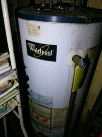 white Whirlpool water heater tank Clinton, 20735