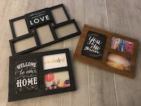 3 picture frame collages  Kitchener, N2N