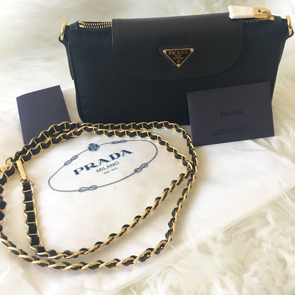 af33664e240dfd Used NEW PRADA Bandoliera Tessuto Saffiano Crossbody bag for sale in San  Diego - letgo