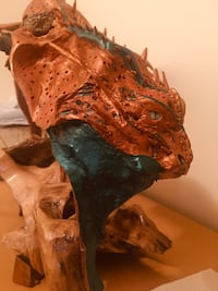 Hand carved dragon