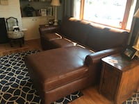Leather Sofa With Chase Lounge Clayton, 45322
