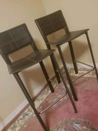 """brown leather 29""""kitchen bar stools Mississauga, L5H 3Z4"""