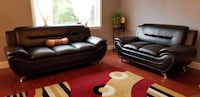 Black leather 2 piece sofa set Gaithersburg, 20879