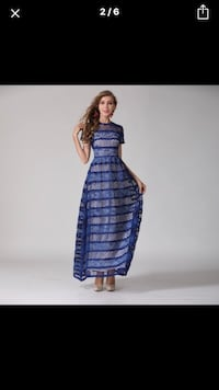 Blue lace maxi dress Winter Haven, 33884