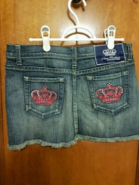 Womens dark denim skirt