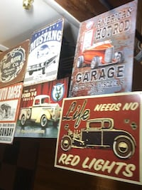 12x16 Vintage Tun Signs -FORD, ROUTE 66, HOT ROD-