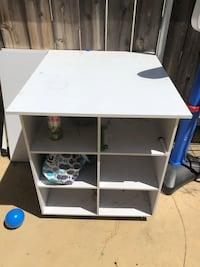 white wooden desk with hutch San Diego, 92124