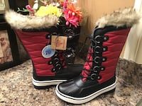 Canadiana red & black ladies' boots ( brand new with tag- size 6 ) Calgary, T2J 1V4