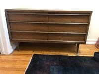 "Mid century style 6 drawer dresser. Normal wear and tear. 30"" high  51 1/4"" wide  17 1/4"" deep New York, 11222"