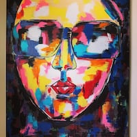 "Brand new Stunning Orignal painting ""Rocking Lady"" in PopArt Style Danbury, 06810"